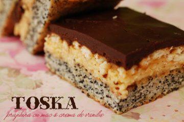 Prajitura Toska - cu mac si crema de vanilie