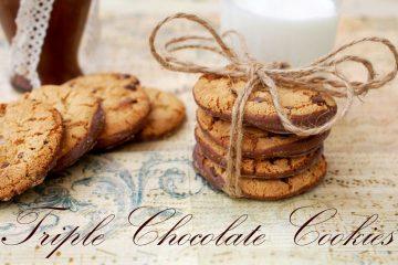 Biscuiti cu 3 feluri de ciocolata