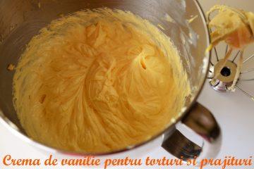 crema de vanilie pentru torturi si prajituri