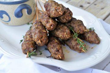 Arrosticini din carne tocata