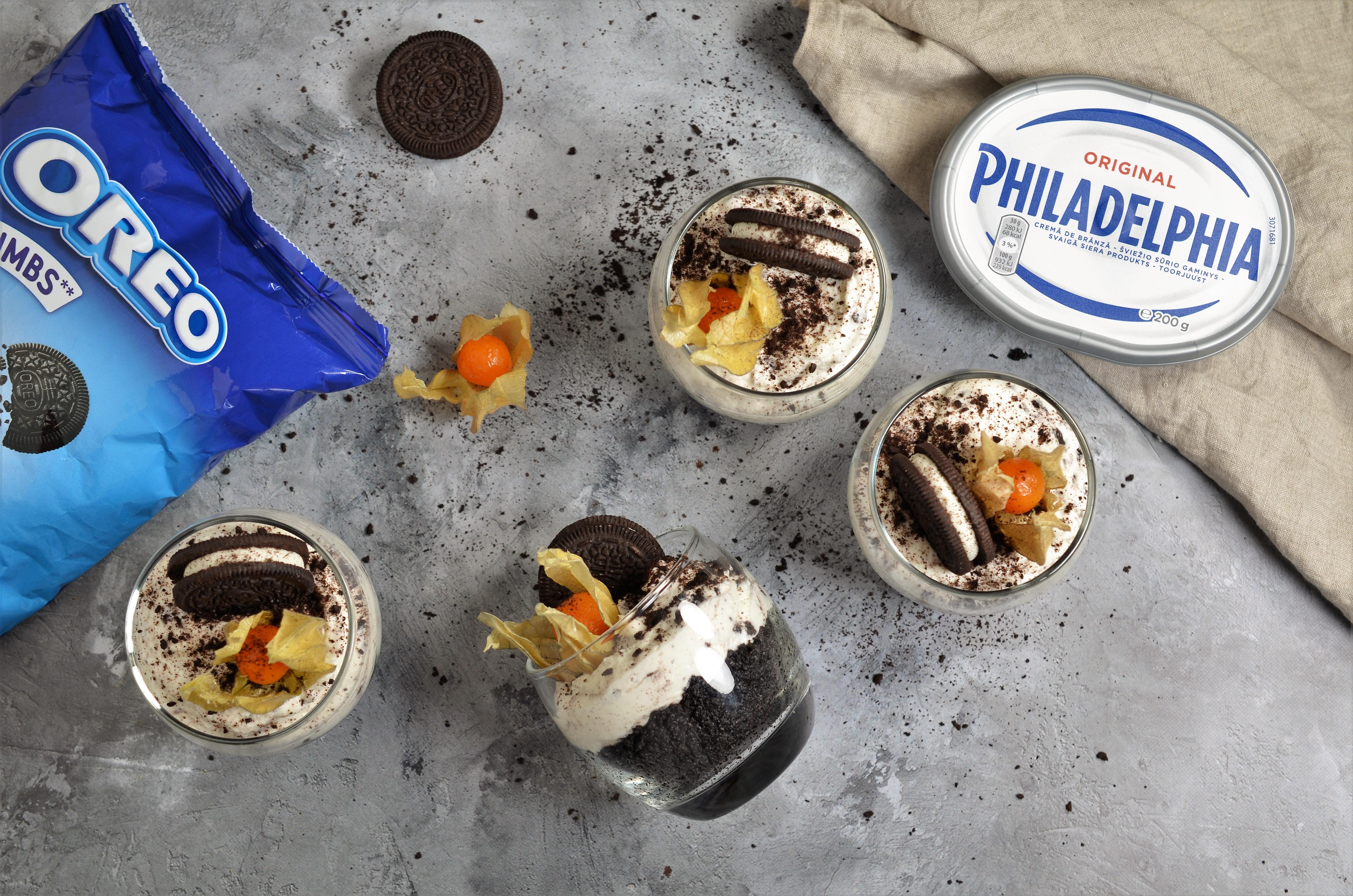 cheesecake rapid cu oreo si branza philadelphia