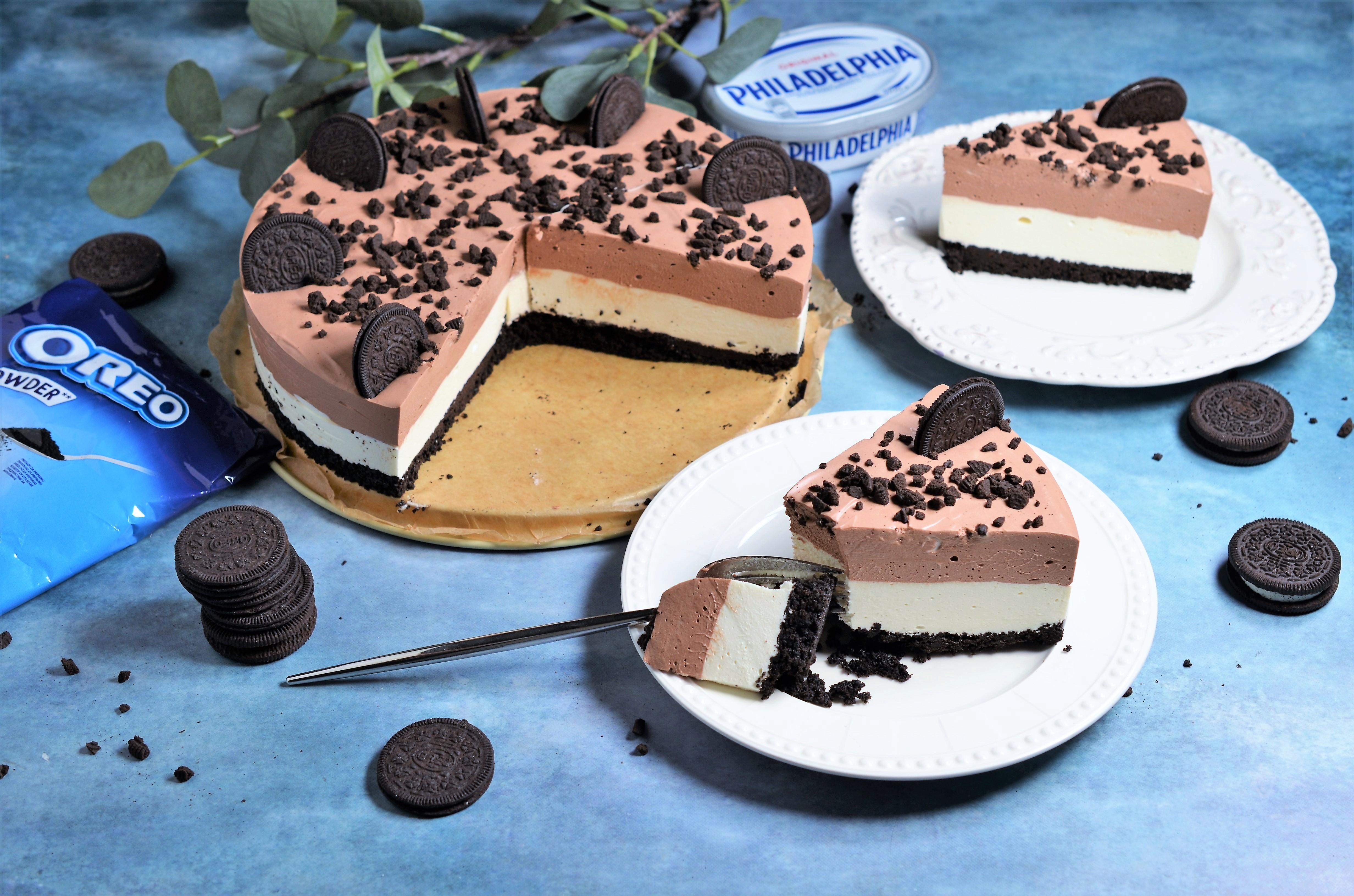 cheesecake tricolor fara coacere