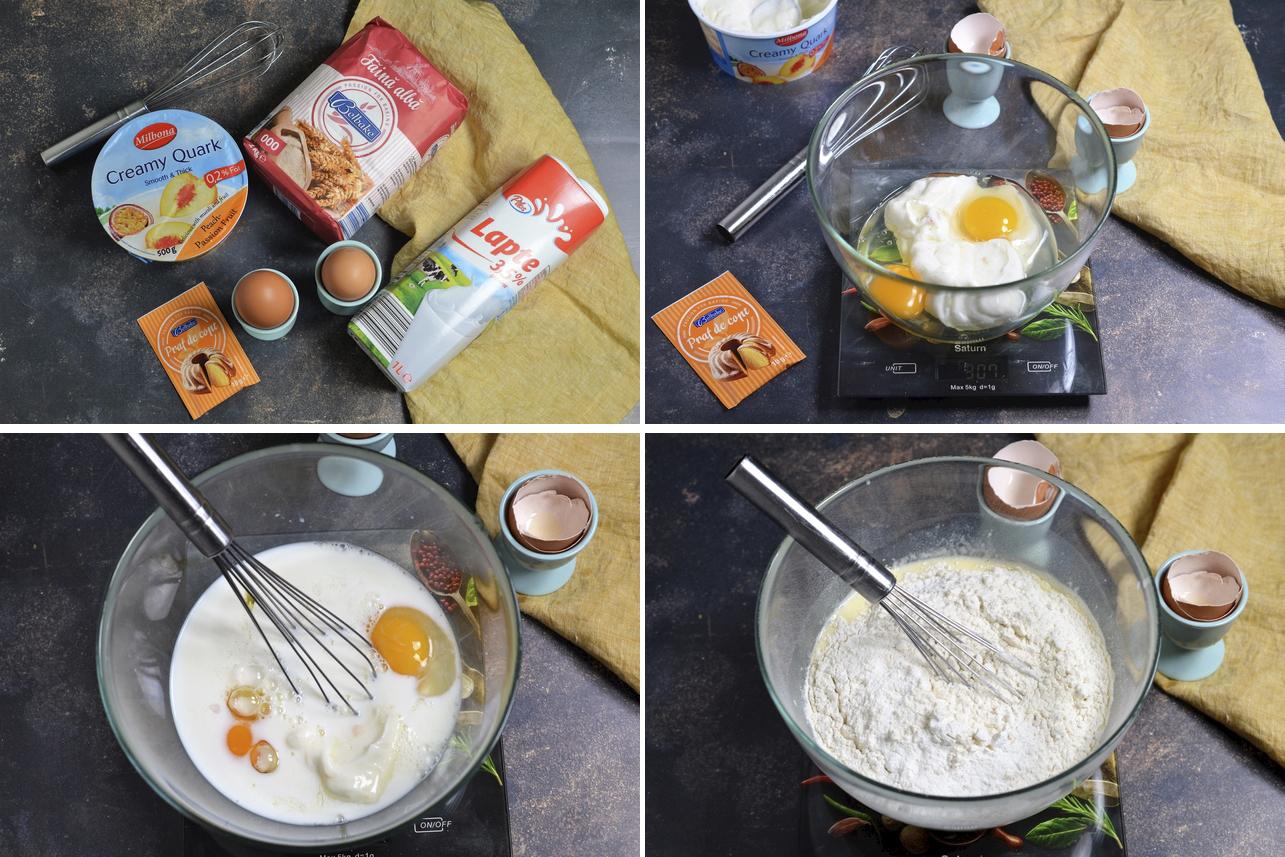 pancakes cu branza quark