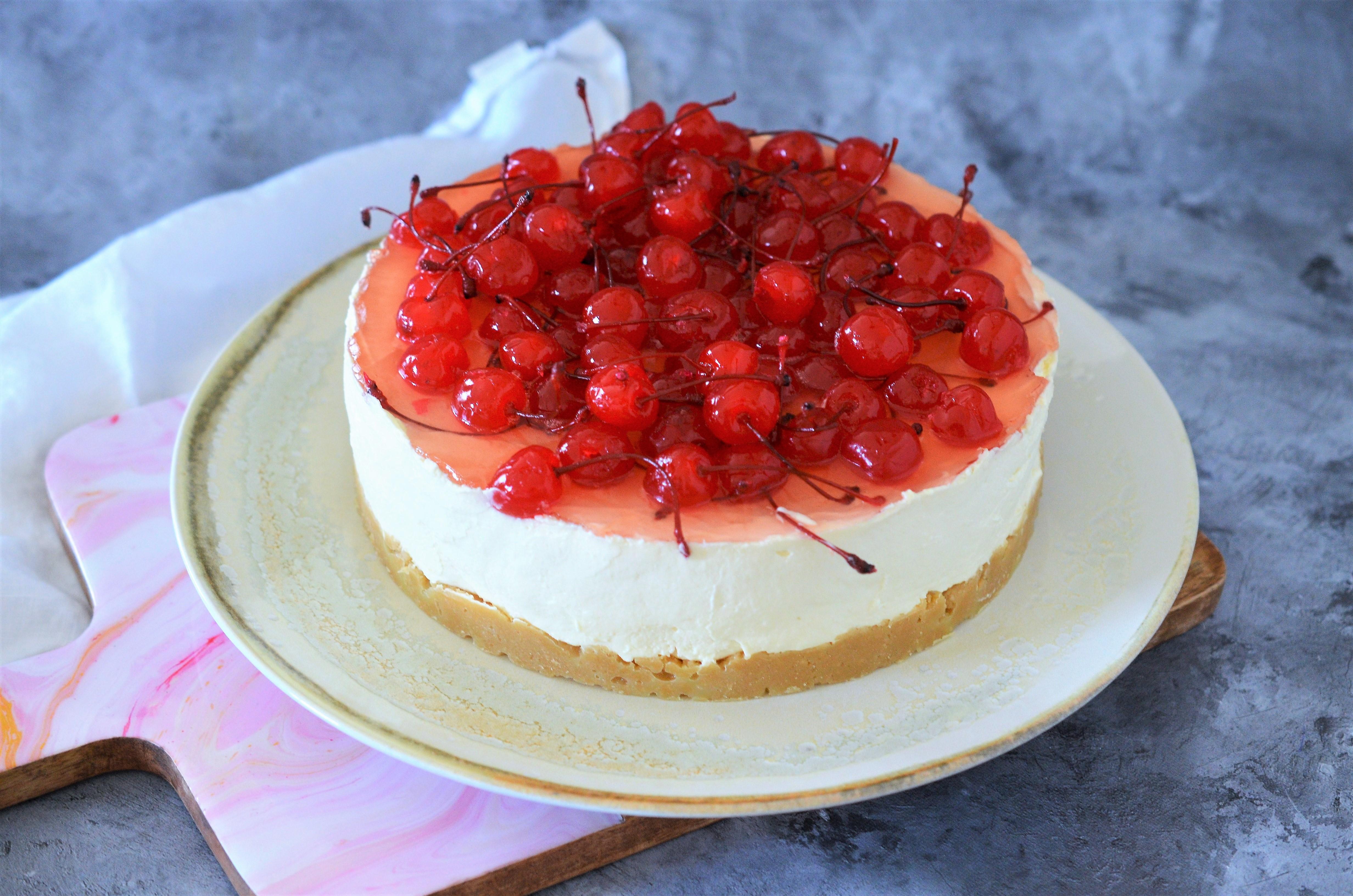 cheesecake fara coacere cu cirese