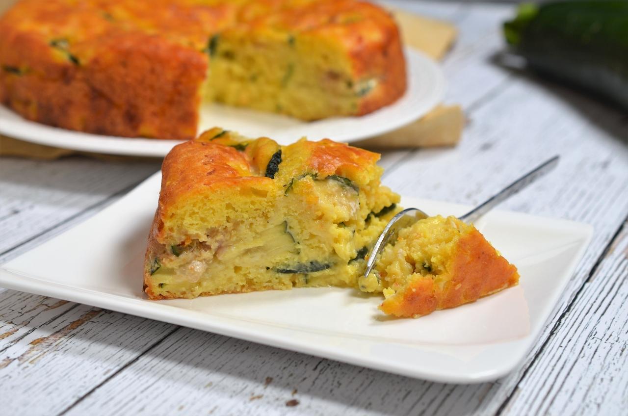 tarta fara blat cu zucchini