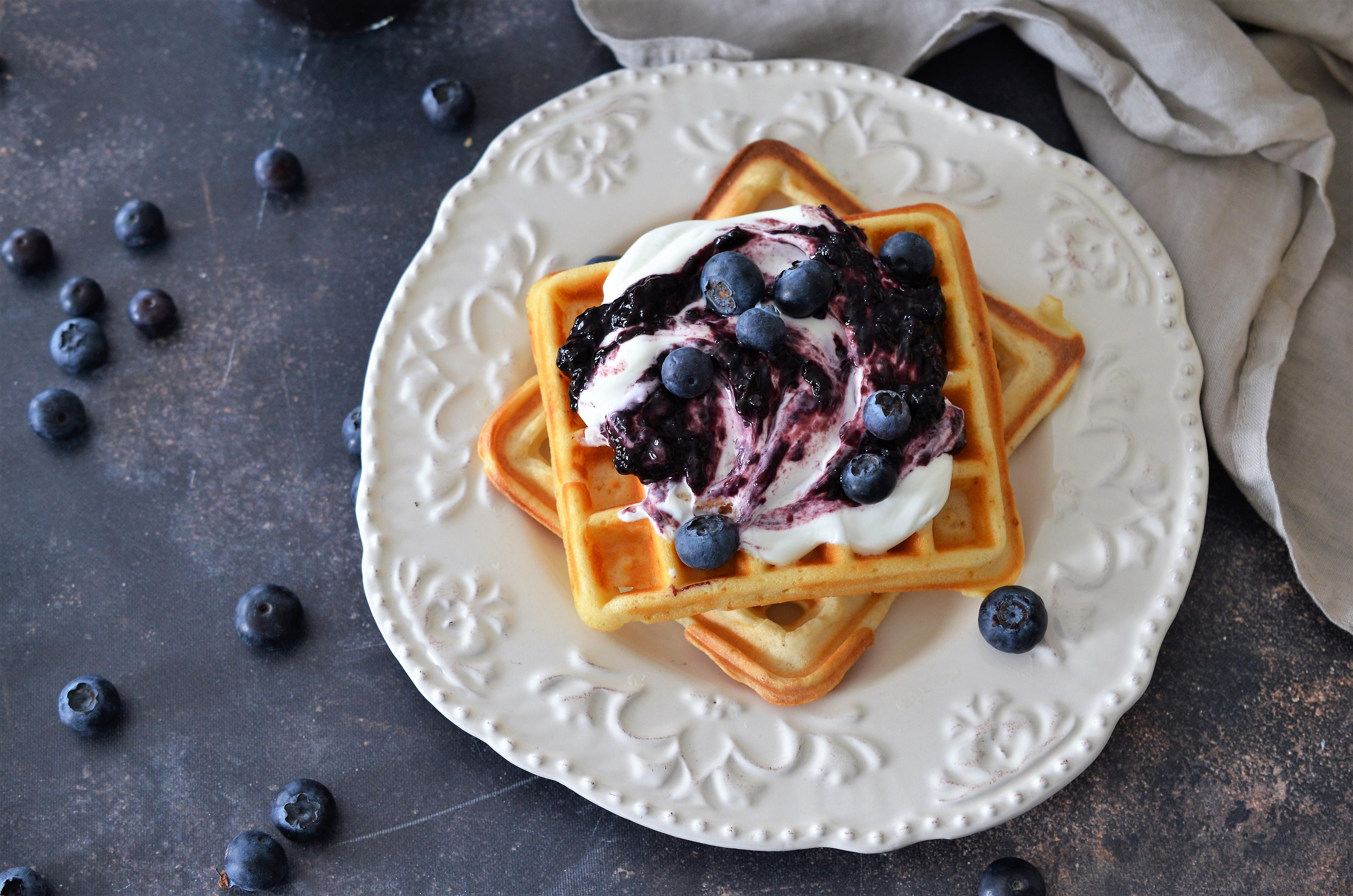 waffles cu iaurt