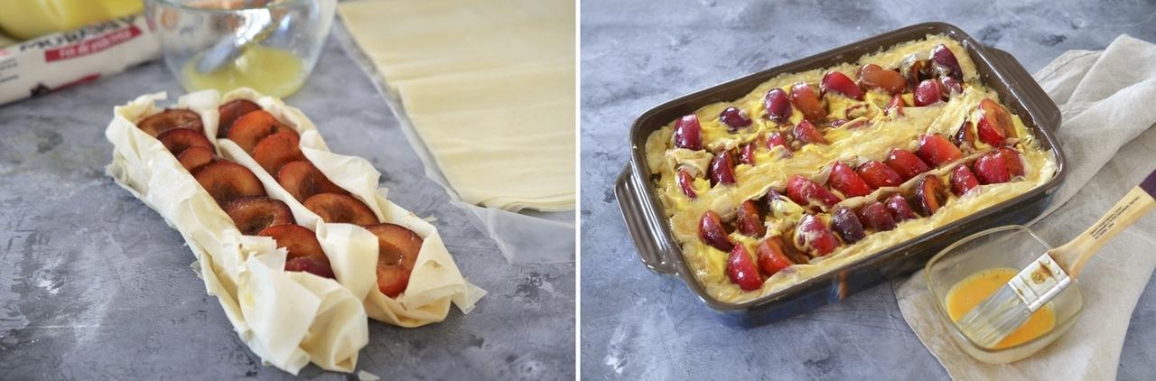 placinta cu prune si mascarpone