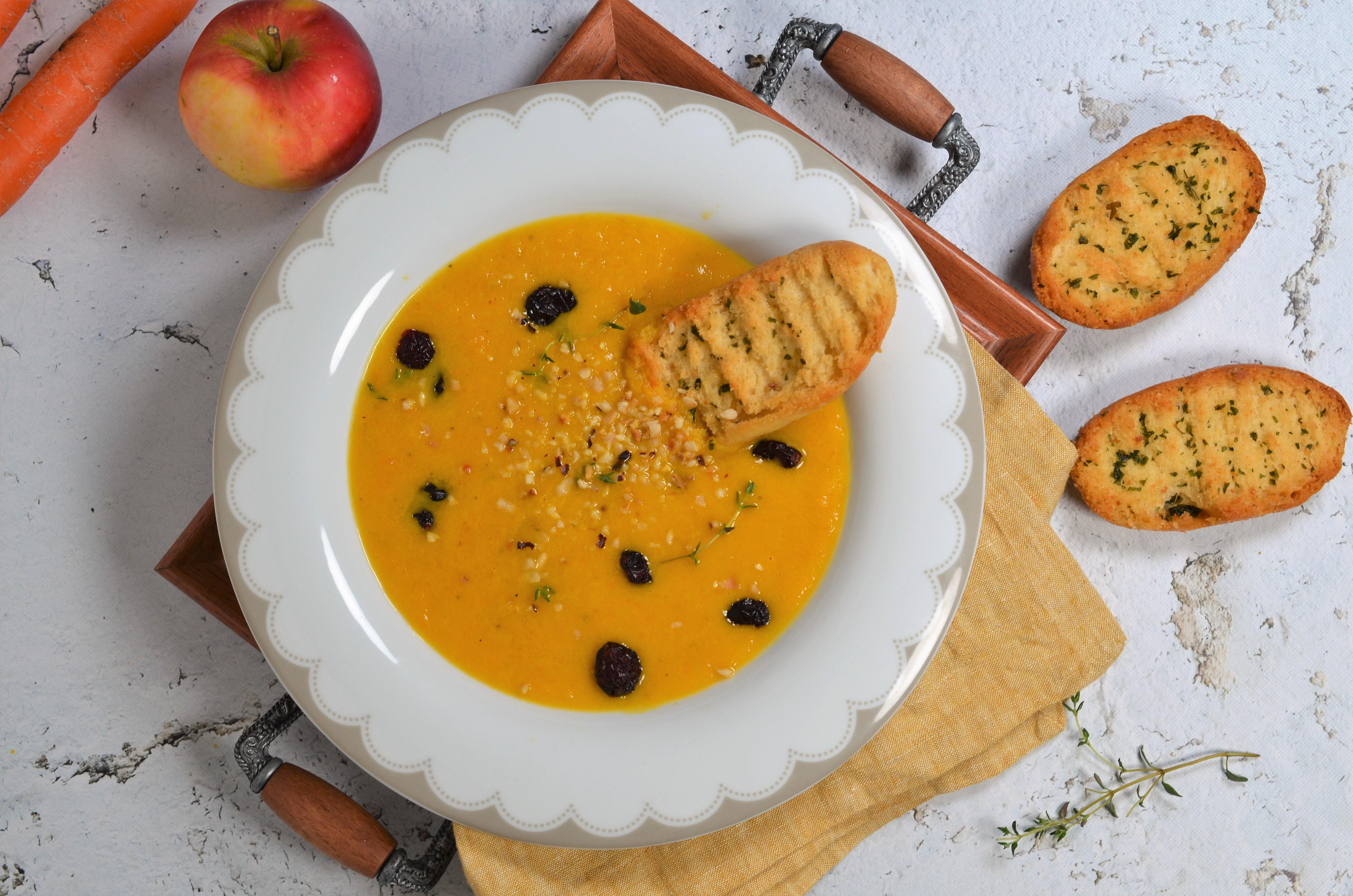 supa crema de morcov cu mar
